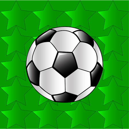 The football for t shirt print or background.