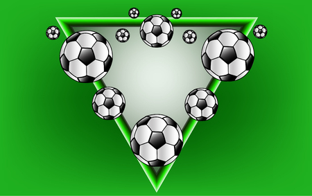 Tne vector football for t shirt print or background.