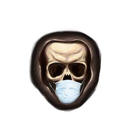 The cool medical skull illustration for print