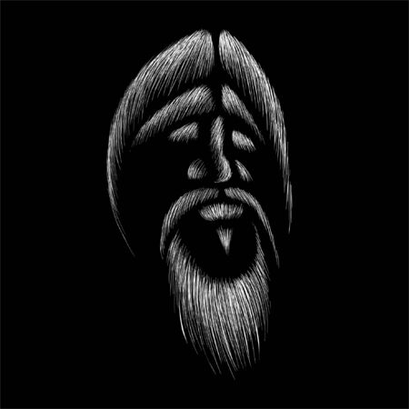 The Vector old man with beard or man in sunglasses for T-shirt design or outwear Vectores