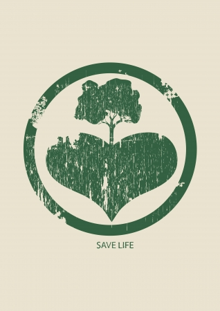 save the Earth today Vector