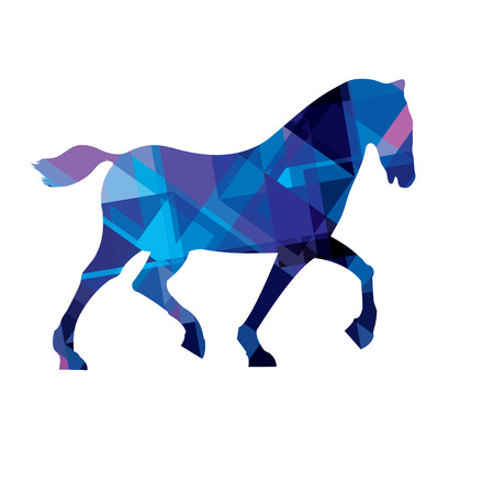 Illustration of a horse in an abstract interpretation Vector