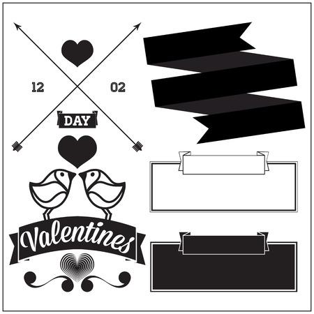 Set element for design. Valentines day celebration  Vector