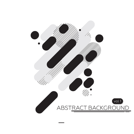 dashes: Abstract technology background black and white. Perfectly suited for the artwork background, printing and web design Illustration