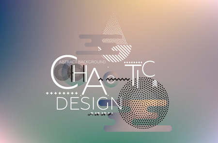 randomness: Modern universal chaotic composition of simple geometric shapes, colorful mesh gradation background in material design. It goes well with the text, poster, magazine, decor. In fiolet, green colors