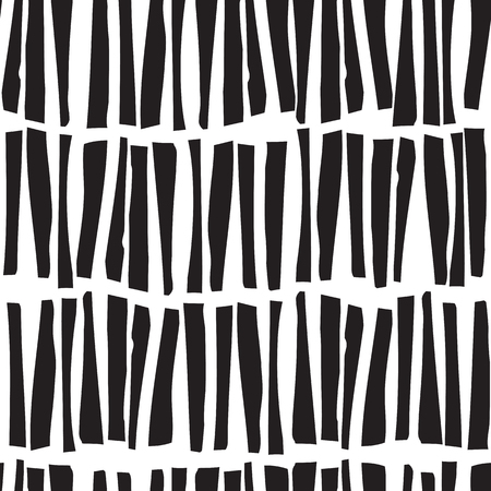 abstract doodle: Abstract seamless vector pattern with hand drawn vertical lines. Monochrome illustration stripes texture. Hipster graphic design