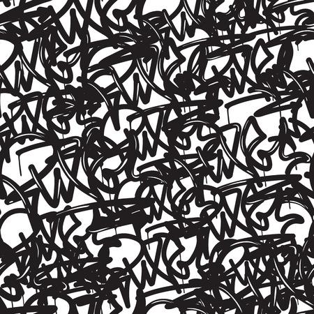 落書き背景シームレス パターン。ベクトル タグで書きます。落書きは手、古い学校のスタイルです。スタイル、ストリート アートのテクスチャの