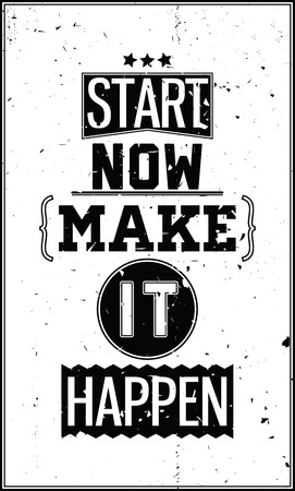 motivating: Inspirational motivating background with retro fonts