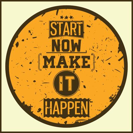 motivating: Inspirational motivating typography with retro fonts Illustration