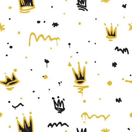 元青年シームレスなパターンは、任意のアイテム、t シャツ、壁紙、カーテンに画像パターンを繰り返します。黄色の白黒ブラック ホワイト グレー