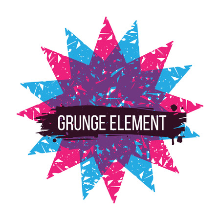 colorful grunge: Abstract background  colorful grunge elements