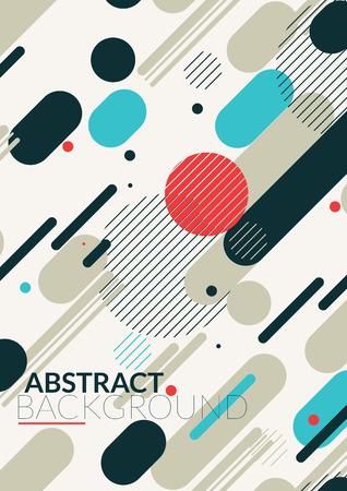 青赤白の色で平行線のシンプルな普遍的な幾何学的なデザイン。本の表紙の雑誌のレイアウトとその他の背景のポスターの背景に最適  イラスト・ベクター素材