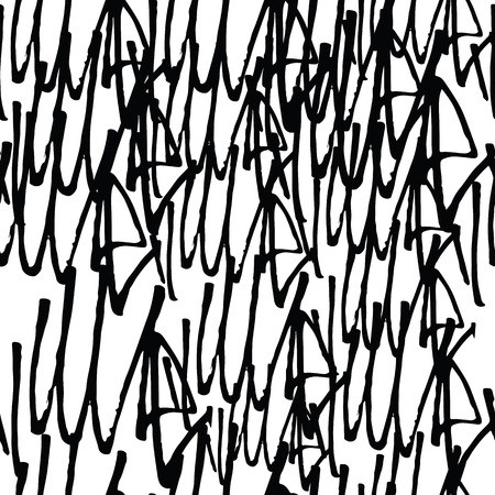 tagging: Graffiti background seamless pattern. Vector Tags, writing. Graffiti tagging hand style, old school. King of style, street art texture. Monochrome black and white colors