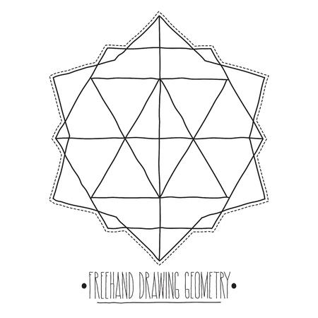 Geometria De Dibujo A Mano Alzada Simples Aislados Figura