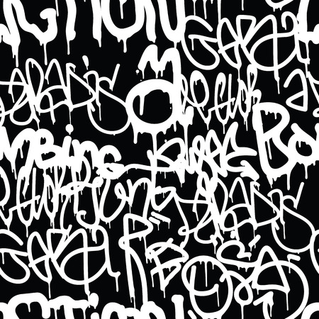 tagging: Background seamless pattern. Graffiti tagging handstyle. Contrast monochrome black and white colors