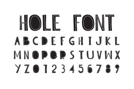 The original splashy font, consisting of capital letters bold Illustration