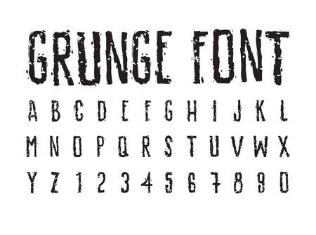 sloppy: Brutal aggressive sloppy font, bold letters Illustration
