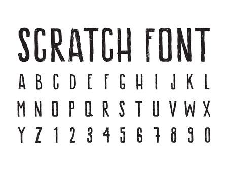 brutal: Brutal aggressive sloppy font, bold letters Illustration