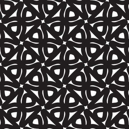 mottle: Abstract seamless geometric pattern. Monochrome white and black. Illustration