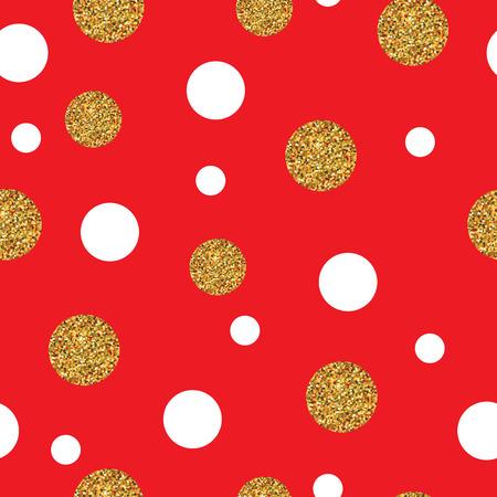Modèle sans couture festif avec des points d'or. Polka, point, petit point chaotique Vecteurs