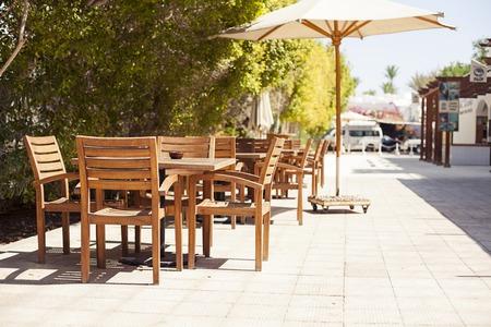Sharm el sheikh, Egypt - 29 august: Outdoor Restaurant Coffee Open Air Cafe Editorial