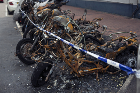looting: Burnt motorbike and insurance matters on accident