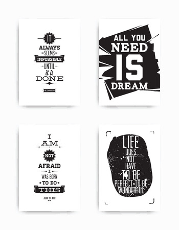Set posters quote Illustration