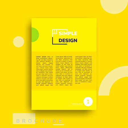 Colorful flat geometric covers design. Vector poster template. Modernism futuristic composition with simple shapes Illustration