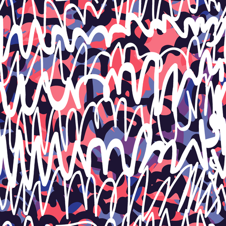 ベクトルは、シームレスなパターンをタグ付けします。黒と白のファッション落書き手 t シャツ スケート ボード繊維のヒップホップ ストリート ア