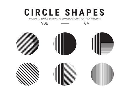 gray texture: Universal circle shapes set Illustration