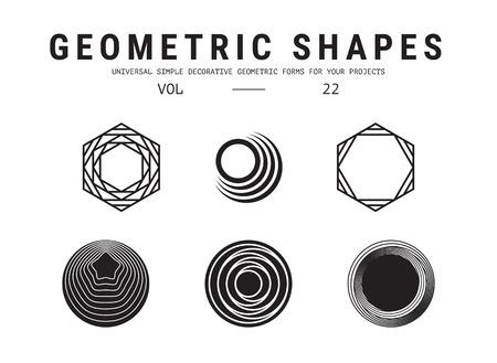 Ensemble de formes géométriques universelles Banque d'images - 85858136