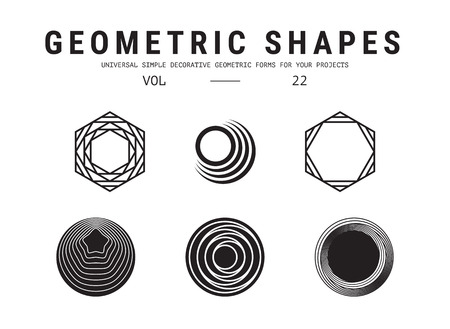 Set geometrici universali Archivio Fotografico - 85858136