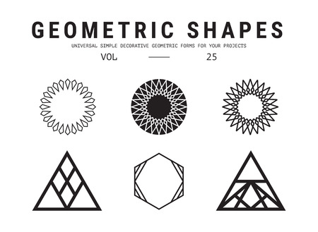 mathematics: Universal geometric shapes set