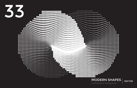Vector modern shape technological background illustration.