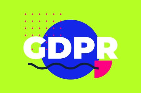 General Data Protection Regulation Abstract Geometric Design Illustration