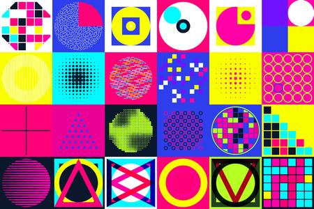 Geometric figures collection. Vektoros illusztráció