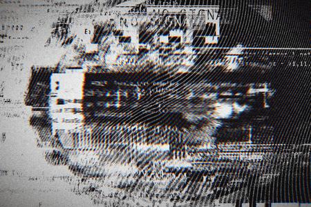 Gradient background with glitch effect, universal pattern 스톡 콘텐츠