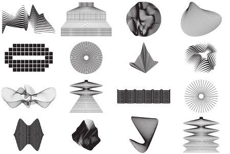 Vector Abstract Shape Collection. Geometric form for T-shirts App interfaces Posters Postcards Patterns  design Business cards Brand books Animation Web Clothes Photography etc  イラスト・ベクター素材