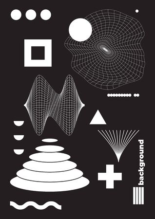 Vector Abstract Shape. Geometric form for T-shirts App interfaces Posters Postcards Patterns   design Business cards Brand books Animation Web Clothes Photography etc