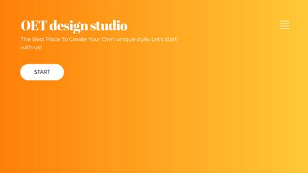 Abstract horizontal Landing page design. Universal Vector gradient background template for websites, apps