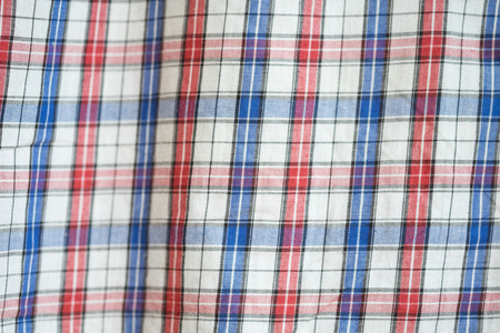 scott: Close-up of blue, red and white scott textile Stock Photo