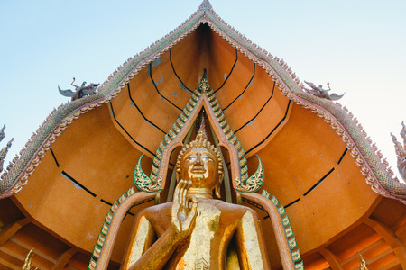 KANCHANABURI, THAILAND – DECEMBER 26: The huge Buddha statue with detailed decoration At Wat Tham Sua on 26 December in Kanchanaburi. The Buddha statue at Wat Tham Sua is the biggest   Buddha statue in Kanchanaburi. Editorial