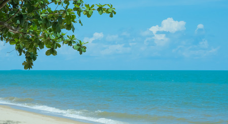 beach view: Seascape beach and blue sky Stock Photo