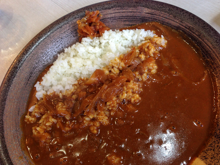 Japanese style curry rice for lunch