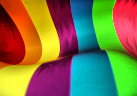 rainbow colours: Colorful Slide Illustration