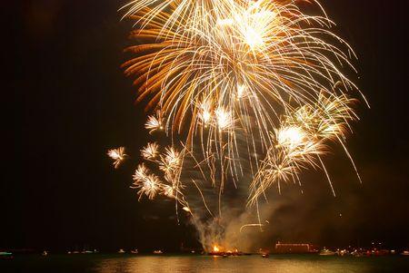 Salute above the bay. Sevastopol. photo