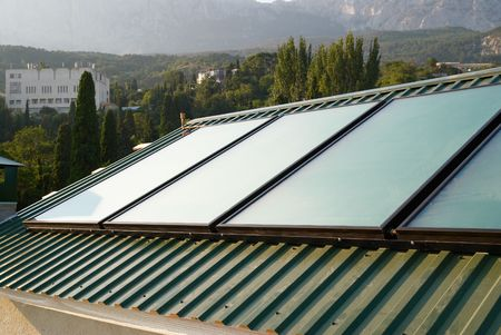 Solar panels (geliosystem) on the  roof.