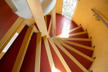 Spiral staircase in a house. Stock Photo - 3762020
