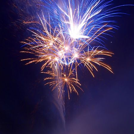 Salute, fireworks above the bay. Stock Photo - 3922649