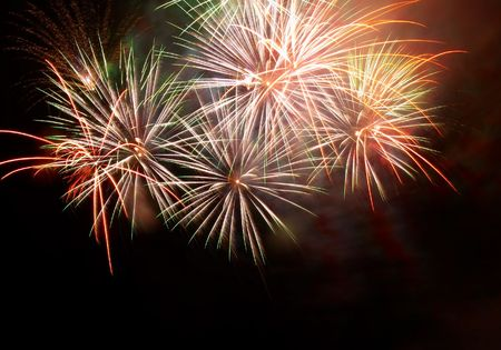 petard: Salute, fireworks above the bay. Sevastopol, Ukraine.
